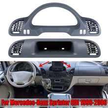 Nova prateleira dianteira do carro compartimento de passageiros contador habitação capa guarnição com ventilação de ar para mercedes para benz sprinter cdi 1999-2006
