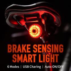 Leadbike Bicycle Rear Light Smart Auto Brake Sensing Tail Light LED Charging Waterproof IPX6 Cycling Taillight