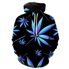 цена на 2020 Hot Style Weed Leaf 3D Digital Printing Men Set Head Women Long Sleeve Pullover Hoodie Sports Throwback Fitness Gym Jerseys