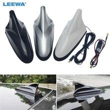 LEEWA 3 комплекта белый/черный/серебристый Автомобильный цифровой Акула ТВ антенна усилитель MCX к SMA Автоматическая цифровая ТВ антенна с усилителем# CA888