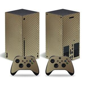 Image 3 - סיבי פחמן מדבקה מכירה לוהטת מדבקת עבור Xbox סדרת X קונסולת מדבקת עור עבור Xbox סדרת X בקר מדבקות