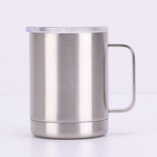 10oz handle mug double stainless steel vacuum Europe and the United States wholesale coffee cup