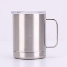 купить 10oz handle mug double stainless steel vacuum mug Europe and the United States wholesale coffee cup по цене 845.4 рублей