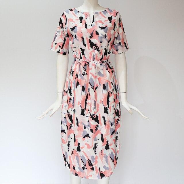 Dress 2020 Boho Print Short Sleeve  4