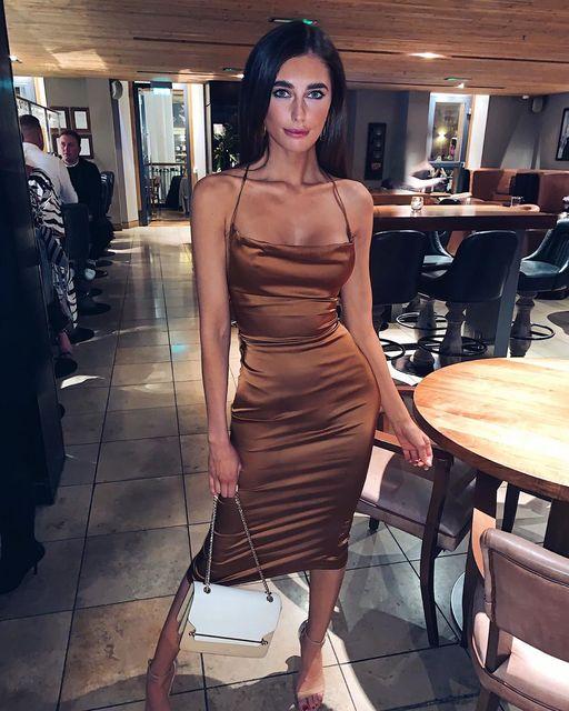 ZAATORA™  Abra 2020 bodycon long midi dress sleeveless 14