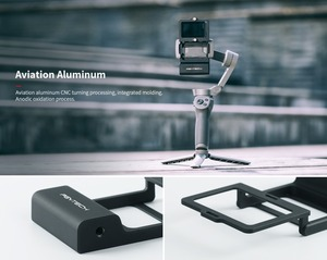 Image 2 - PGYTECH ACTION Kamera Adapter + für Mobile Gimbal für Gopro Hero7 6 5 Osmo Action DJI osmo Mobile 3 glatte 4 kamera Zubehör