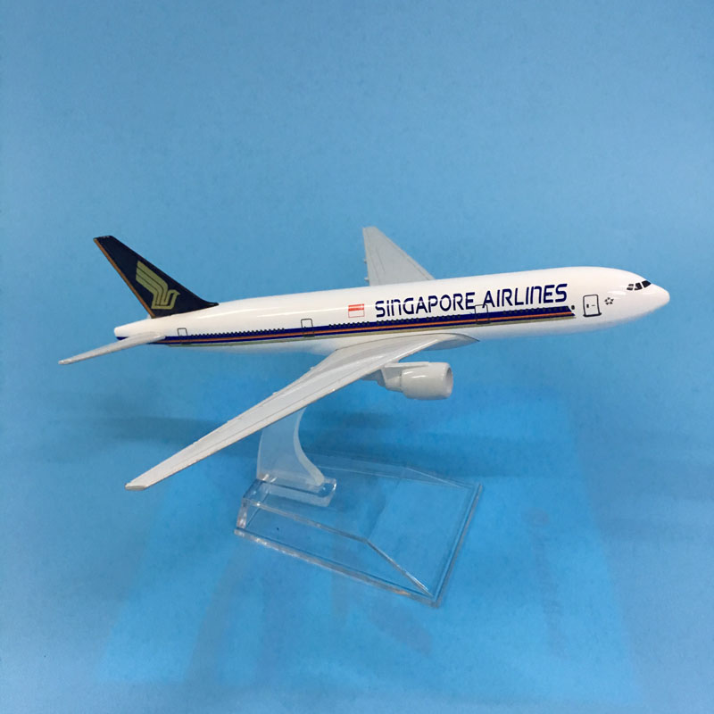 JASON TUTU Aircraft Model Diecast Metal Model 16cm 1:400 Model Airplane Singapore Airways Boeing 777 Airbus A380 Airplane Model