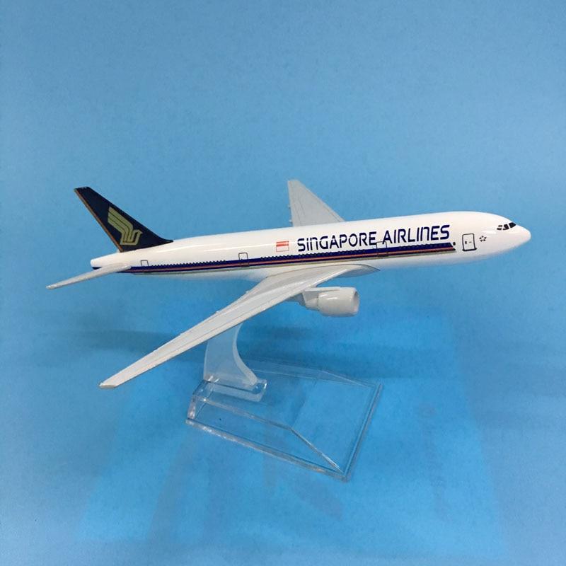 JASON TUTU Aircraft Model Diecast Metal Model 16cm 1:400 Model Airplane Singapore Airways Boeing 777 Airbus A380 Airplane Model