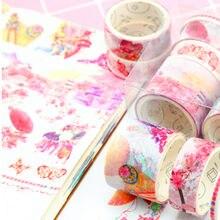 Nastri Washi foglia Sakura unicorno fenicottero Scrapbooking nastro adesivo per regalo stazionario fai da te decorazioni per la scuola di san valentino