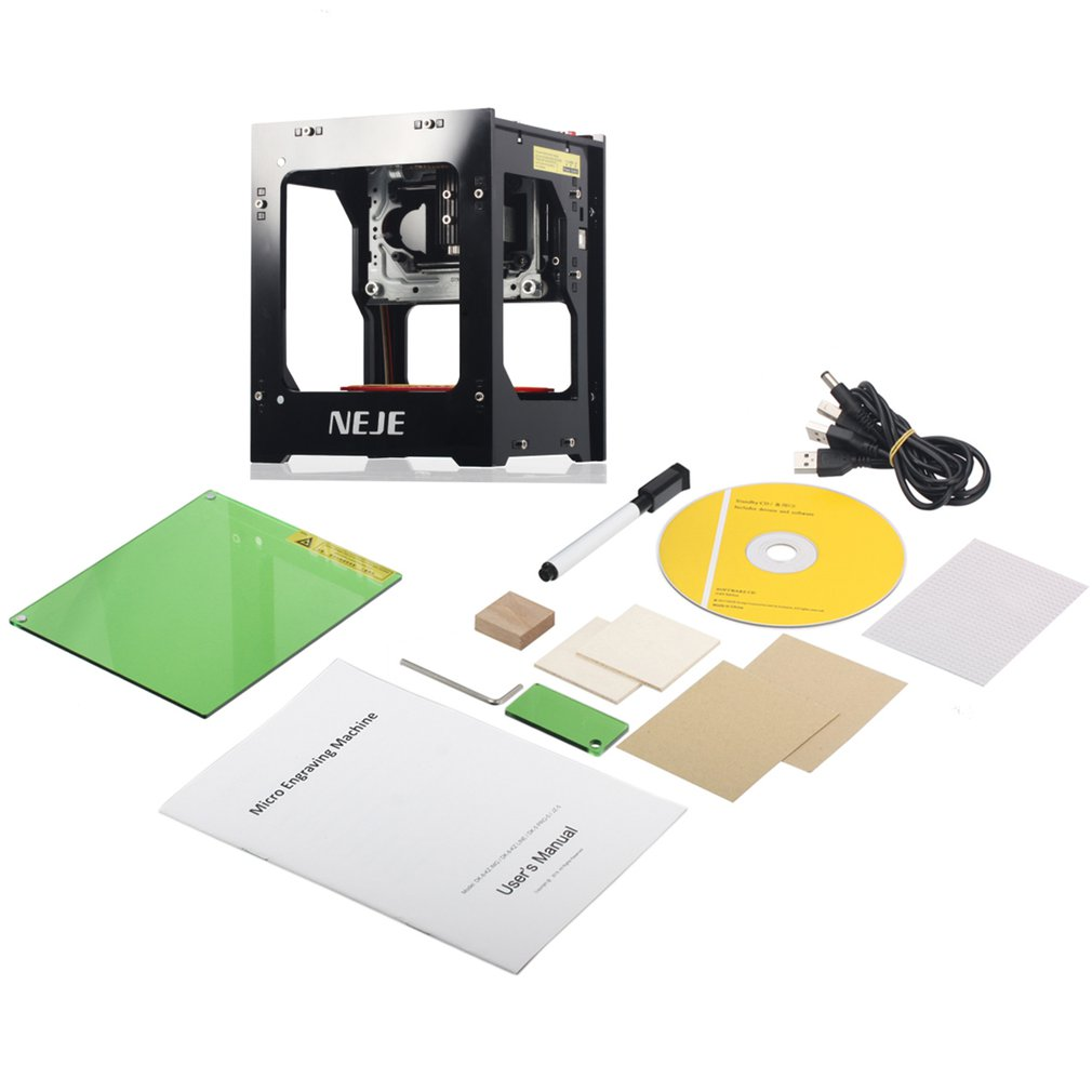 NEJE DK-BL 1500mW BT Micro Laser Engraver Engraving Marking Machine Router Cutter Printer For Hard Wood / Rubber / Leather