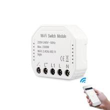 Smart wifi interruptor módulo transformar seu interruptor antigo em inteligente compatível com alexa google assistência controle de voz para android/ios
