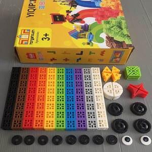 Toy Manipulative Counting-Cubes Multilink Blocks 108pcs 10-Colors Snap Preschool Math