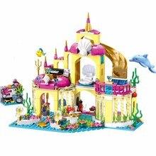 41063 menina princesa amigos série undersea palácio blocos de construção conjuntos brinquedo menina amigos compatível com blocos menina brinquedos