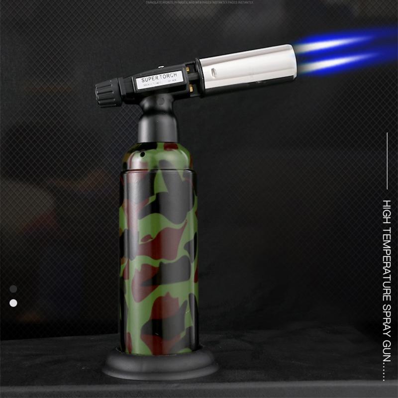 Супер Firepower Бутановая струйная турбо Зажигалка газовые зажигалки аксессуары для курения 1300C газовая зажигалка для приготовления пищи сигар...