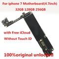 Материнская плата для iphone 7  32 ГБ  100% оригинал  разблокированная  без Touch ID  с iCloud  32 ГБ  для iphone 7