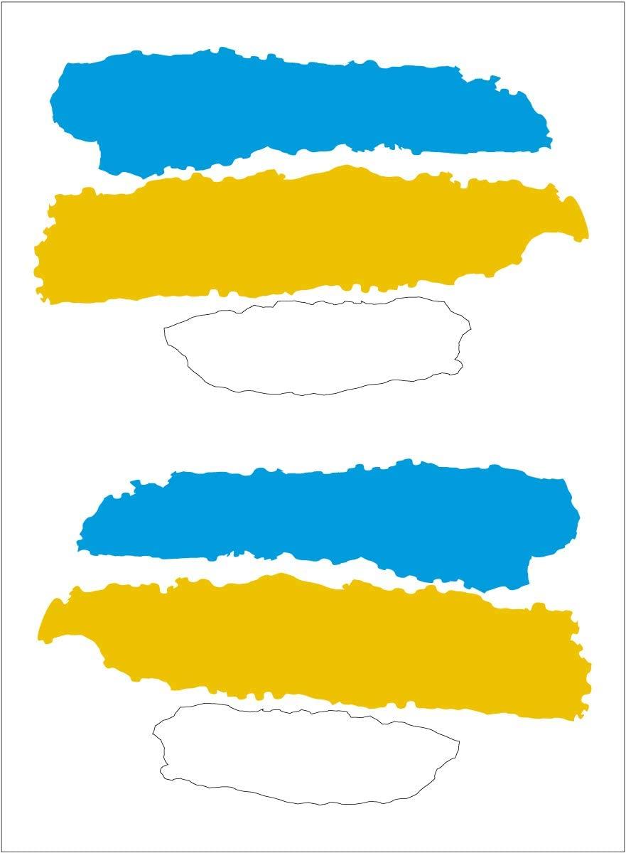 Наклейки с изображением флага Канарских островов 2 шт. 65x4 0 мм/you.