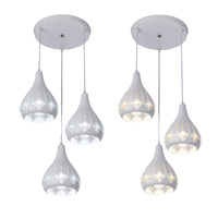 Lustre de estilo moderno e27  estilo simples  para sala de estar  sala de jantar  teto de vidro  lustre led com lustre de cristal