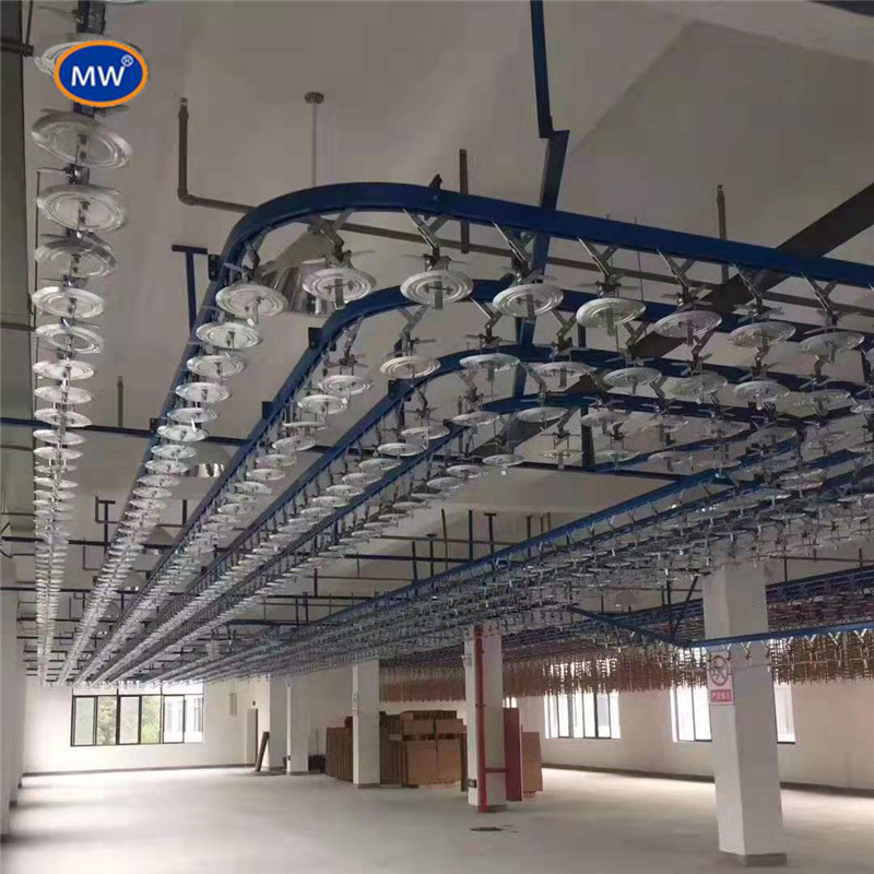 Light Volume Hang Chain Conveyor Y Type Hanger For Automatic Spray Painting Machine