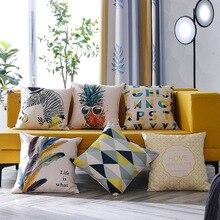 Fashion Printed Cushion Cover linen Pillow Cushion Sofa Decorative Cushion Cover Office Siesta Pillow Case недорого