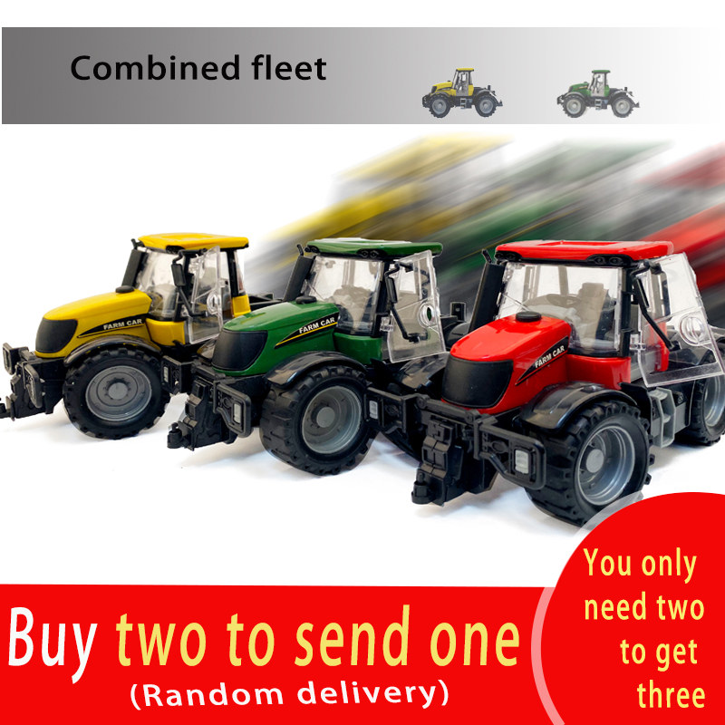 1: 30 High Simulation 3 Colors Toy Tractor Farmer Car Toy  Children Toy Car Collection Gift Model Car