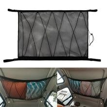 Teto do carro de armazenamento bolso líquido telhado do carro interior carga net saco portátil mala de armazenamento para van suv