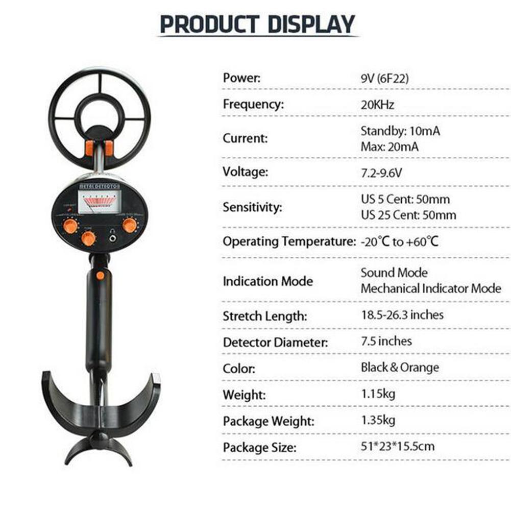 ajustável metal finder display lcd à prova