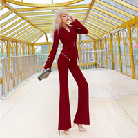 long sleeve jumpsuit playsuit bodysuit 2020 new spring and autumn fashion office lady brand female women ladies girls clothing