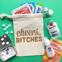 Hen weekend bag customized bachelorette party oh shit kit welcome hangovers Bags favor gift bags Emergency Kit