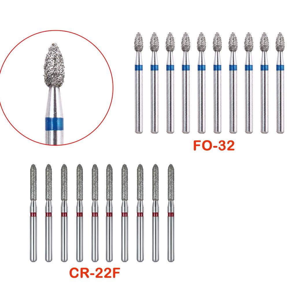 10pcs/set  Dental Diamond Burs High-speed Mobile Silicon Carbide Abrasive Tool Medical Equipment