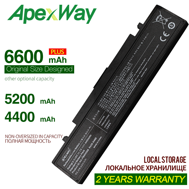 ApexWay Laptop <font><b>Battery</b></font> AA-PB9MC6B For <font><b>Samsung</b></font> R467 R468 R470 R478 R480 R517 R520 <font><b>R519</b></font> R522 R523 R538 R540 R580 R620 R718 R728 image