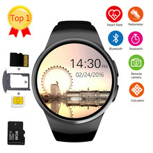 цена на KW18 Bluetooth smart watch full screen Support SIM TF Card fashion Smartwatch Phone Heart Rate for apple gear s2 huawei xiaomi
