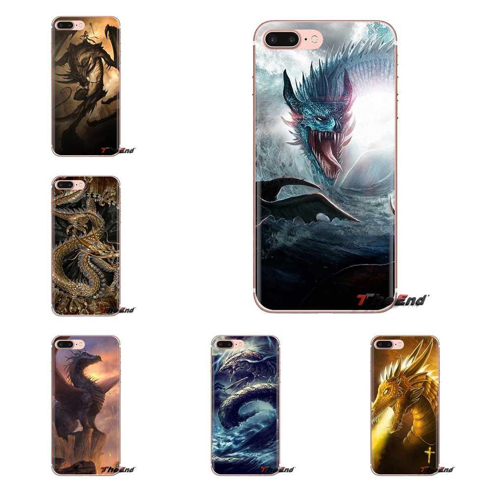 De dragón de dibujos animados para Samsung Galaxy S2 S3 S4 S5 MINI S6 S7 borde S8 S9 Plus nota 2 3 4 5 8 funda transparente TPU