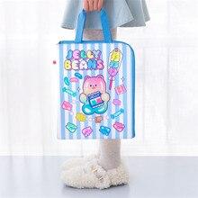Bentoy Milkjoy Cartoon Print Ноутбук сумка сумка A4 Inforamtion сумка Travel Mac Ipad чехол Kawaii Korea Computer Protective Cover