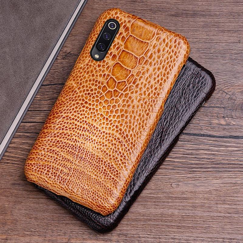 Étui de téléphone pour xiaomi mi 8 9se9T A1 A2 A3 lite Max 2 3 mi x 2s 3 Poco F1 Naturel peau d'autruche Rouge mi Note 4 4X 4A 5 6A 7A Pro