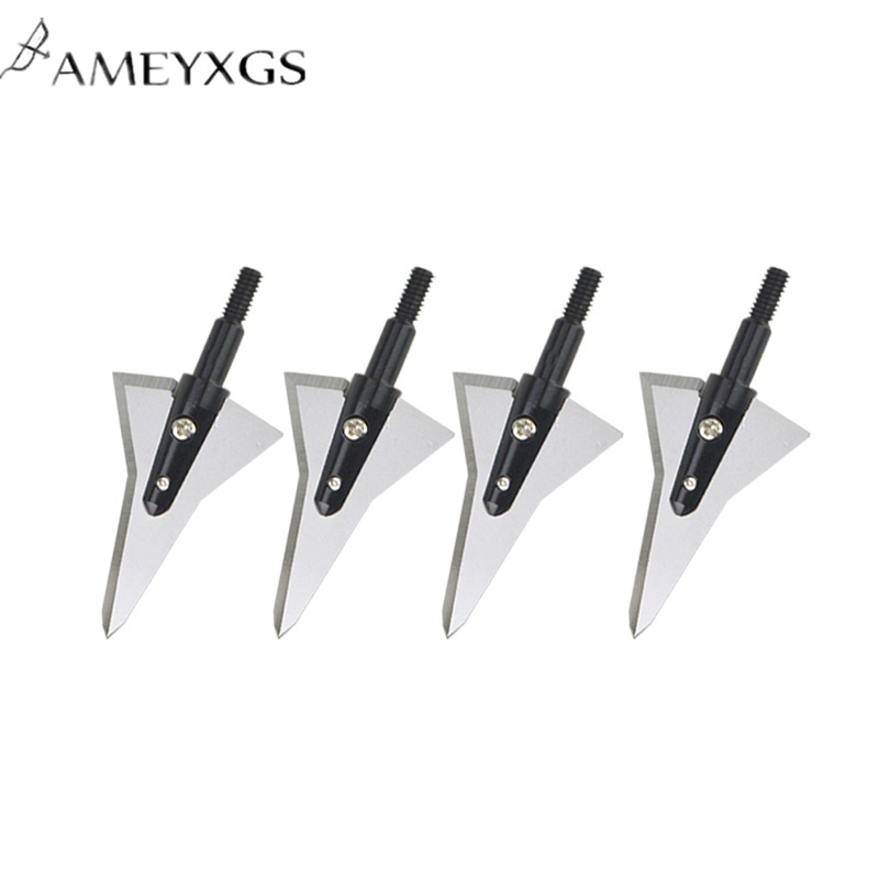 12pcs Archery Arrowheads 126 Grain Blade Broadheads Sharp Hunting Tips High Quality Shooting Accessories
