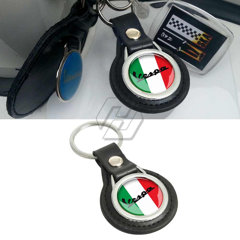 Motorcycle Keychain Key Ring Case for Vespa LX LXV GTS GTV S Sprint S 50 125 150 200 250 300 300ie
