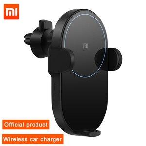 Image 1 - Xiaomi cargador de coche inalámbrico para teléfono, con Sensor infrarrojo inteligente, soporte para teléfono móvil y carga flash de 20W y alta potencia