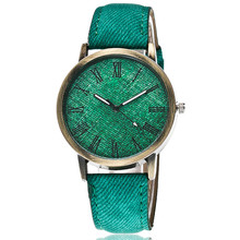 Hot Sale Jeans Watches Fashion Casual Women Roma Dial Wristwatch Leather Strap W