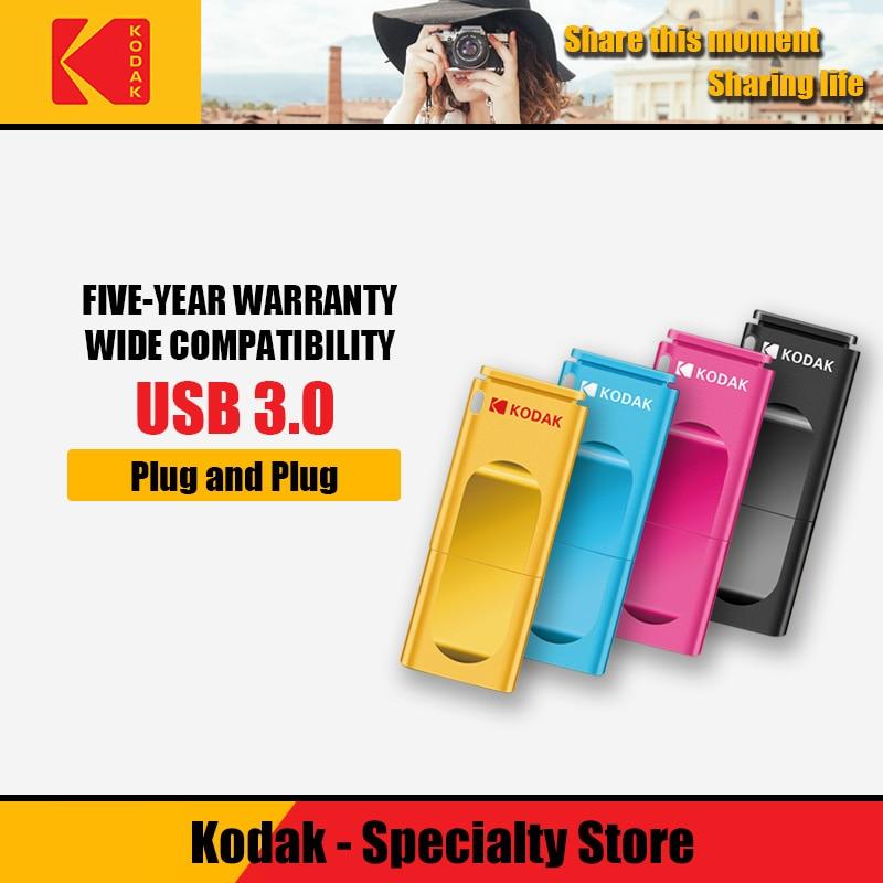 Kodak K233 16gb Flash Drive Pendrive Usb 3.0 Plastic Pen Drive 32 Gb Usb Memory Stick 64gb Usb Flash Drive Cel Usb Stick USB 3.1