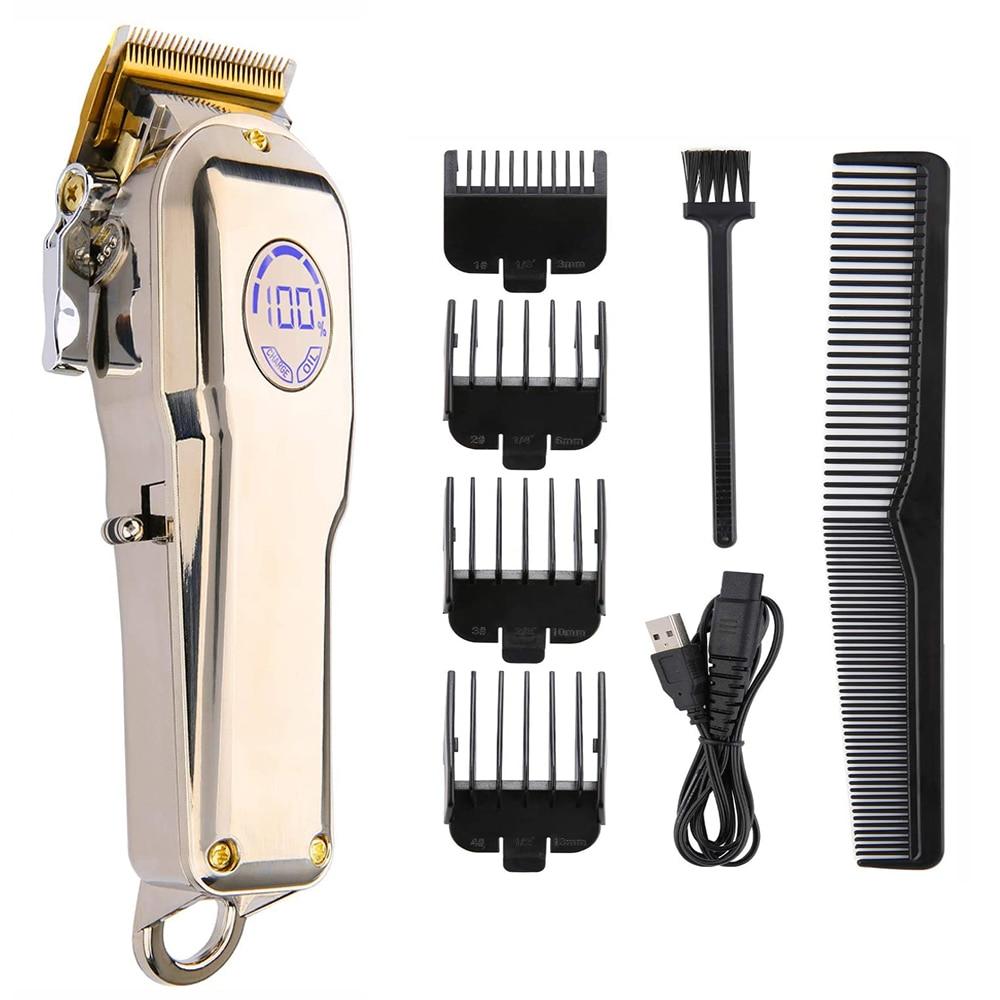 Barber Hair Clipper Trimmer Professional Haircut Hair Cutting Machine For Men Hair Cut Cordless Corded Shaving Razor Electric