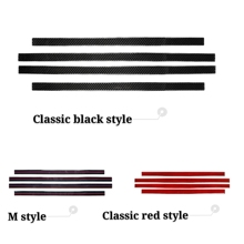 Accessories Door Sill Scuff Plate Guards Carbon Fiber Door Sills Protector Stickers For 1998-2005 BMW E46 Car Styling led door sill moving for bmw 3 touring e46 e91 2004 2012 scuff plate acrylic door sills car welcome light sticker accessories