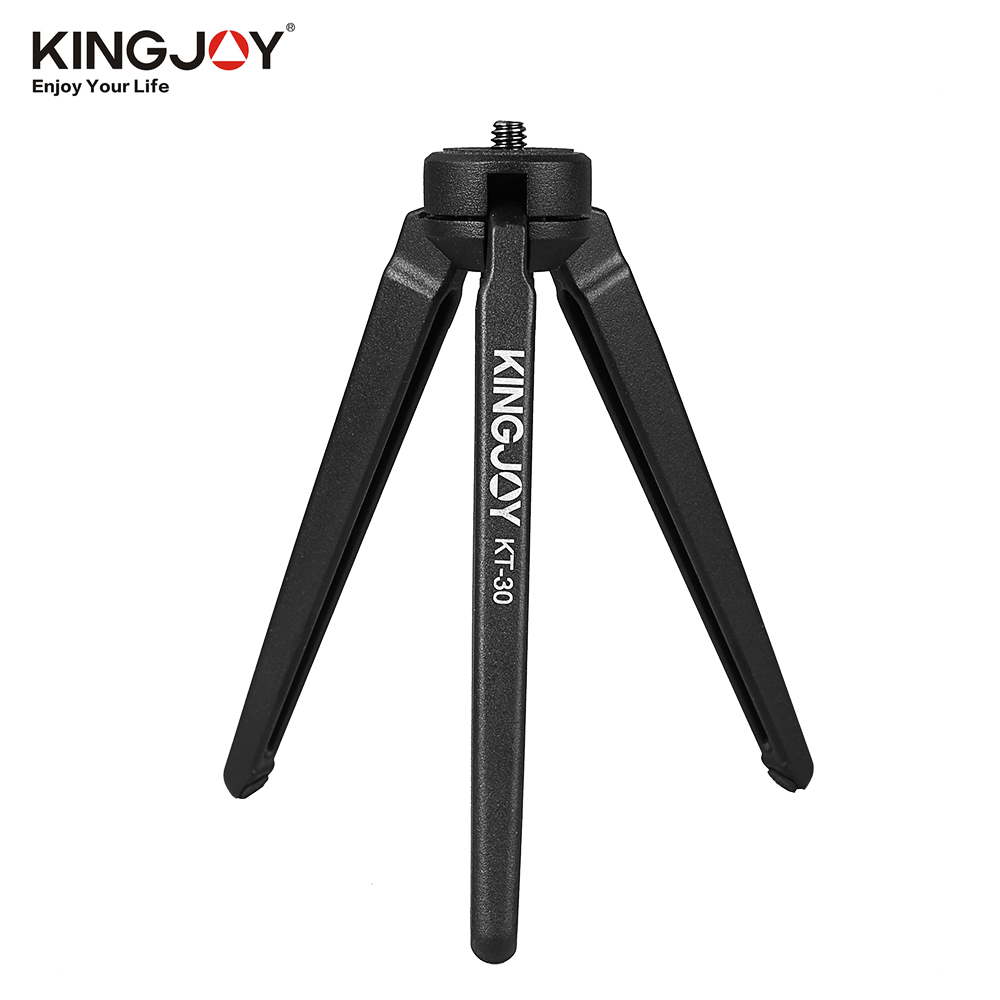 KINGJOY Mini Tripod Stabilizer Aluminium Three-leg Stand Holder Support Base with Screws for GoPro Cameras DSLR Camcorder DJI