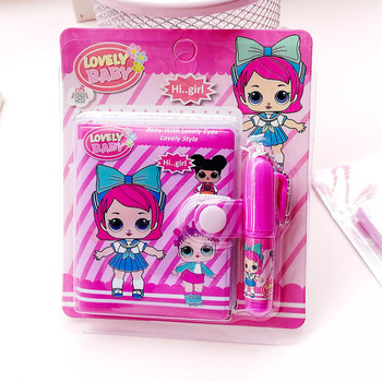 1pc Doll Notebook with Ballpoint Pen Cute Kawaii Girl Writing Diary Book for Kids Gift School Stationery Supply 1