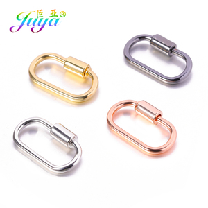 Juya 4pcs/lot Wholesale DIY Creative Carabiner Fasteners Screw Lock Clasps Accessories For Handmade Punk Jewelry Making Supplies