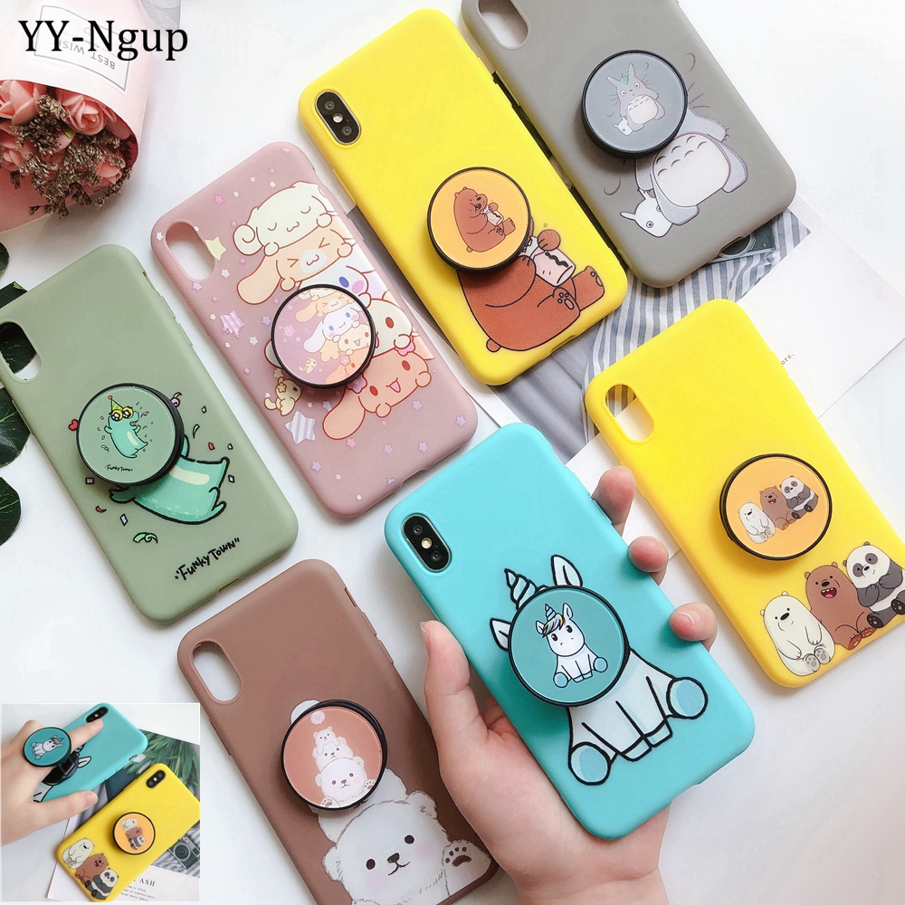 for <font><b>iPhone</b></font> <font><b>7</b></font> i <font><b>Phone</b></font> 8 Plus <font><b>Case</b></font> <font><b>Kawaii</b></font> Stand Holder Unicorn Silicon Cover for <font><b>iPhone</b></font> X XR XS Max 5 5S SE 6 6S <font><b>7</b></font> Plus <font><b>Case</b></font> Women image