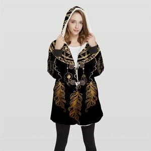Image 1 - 2019 爆撃機女性のプラスサイズ 3d プリントコンバーチブルパーカージャケット 100% ポリエステルソフトジャケット女性顧客デザイン Wy21 トップス