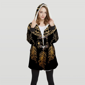 Image 1 - 2019 Bomber Womans Plus Size 3d Print Convertible Hoodie Jackets 100% Polyester Tops Soft Jacket Woman Customer Design Wy21