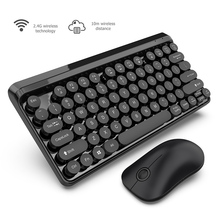 купить 4G Wireless Keyboard Mouse Combo Set 77 Round KeyCap Keyboard Wireless Transmission Rechargeable Optical Mouse For PC Computer онлайн