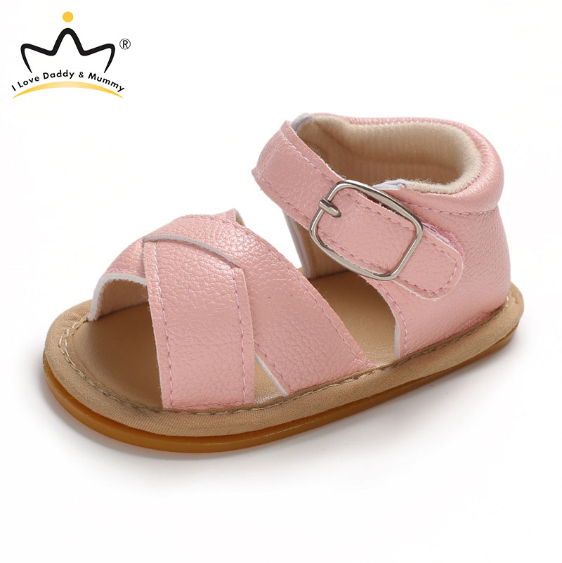 Summer New Baby Shoes Soft Leather Boy Girl Sandals Rubber Sole Anti Slip Infant Toddler Boys Girls Sandals Baby Sandals