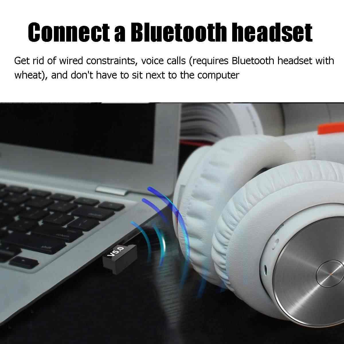 Adaptateur USB bluetooth 5.0 pour fenêtre 7/8/10 pour Vista XP pour Mac OS X PC clavier souris Gamepads haut-parleurs